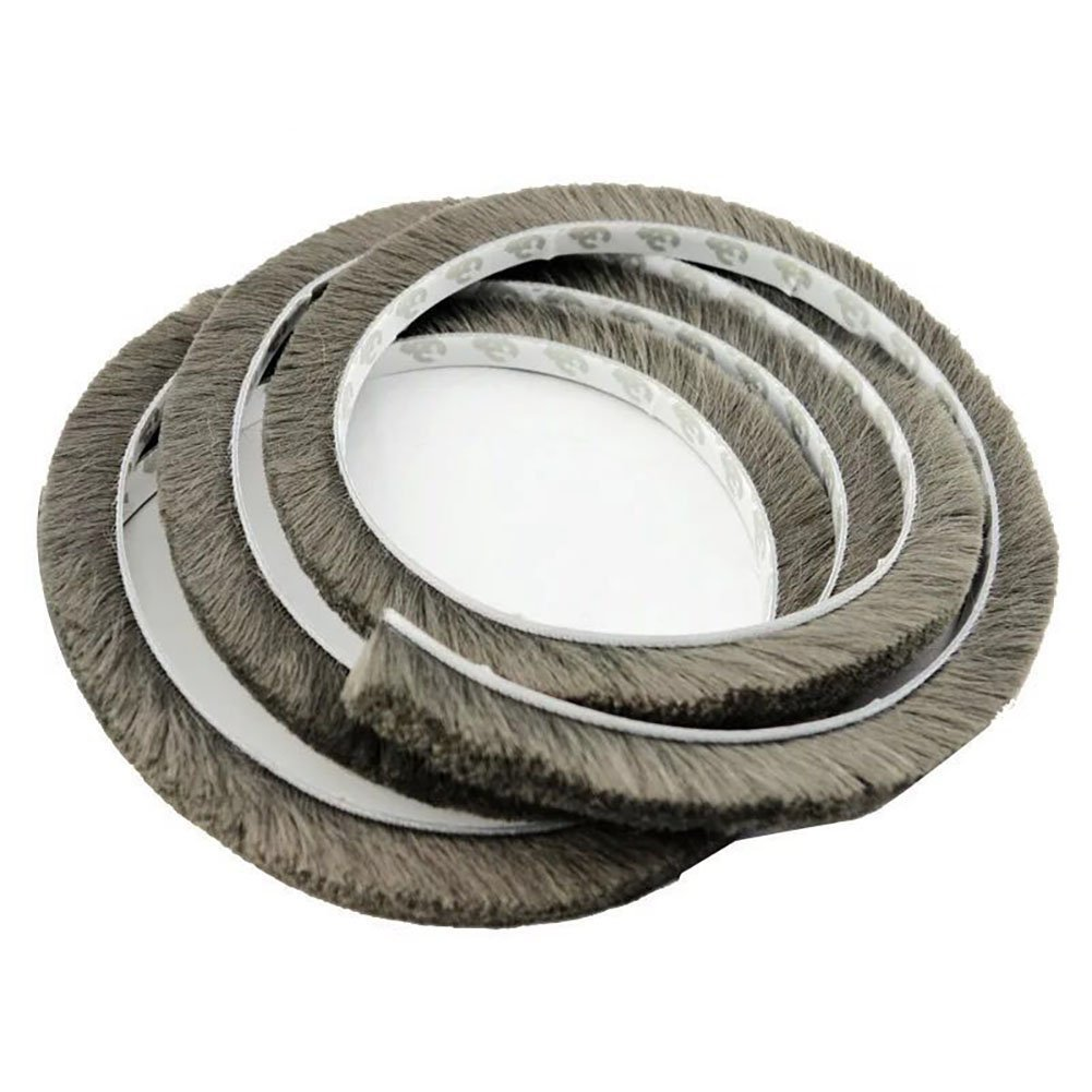 T&B 196.9 Inch Self-Adhesive Pile Weatherstrip for Windows & Doors 3/8-Inch x 3/8-Inch x 16.5 ft, (5m, Grey)
