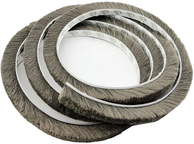 T&B 196.9 Inch Self-Adhesive Pile Weatherstrip for Windows & Doors 3/8-Inch x 3/8-Inch x 16.5 ft, (5m, Grey), Grey) - - Amazon.com