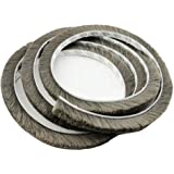 T&B 196.9 Inch Self-Adhesive Pile Weatherstrip for Windows & Doors 3/8-Inch x 3/8-Inch x 16.5 ft, (5m, Grey), Grey)