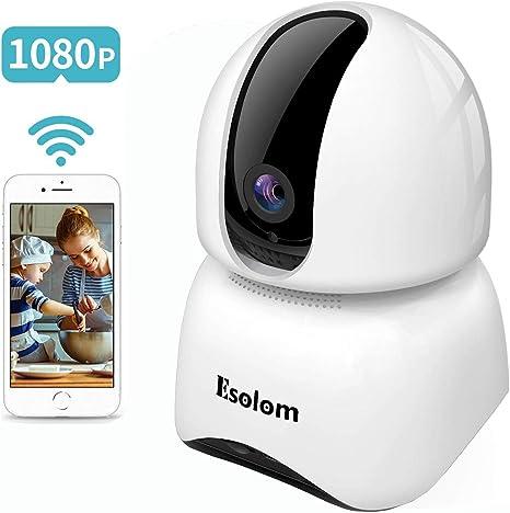 SUPEREYE HD 1080P Telecamera IP di sorveglianza con Rilevazione del movimento audio Visione notturna Compatibile con IOS//Android Telecamera Wi-Fi Esterno Senza Fili