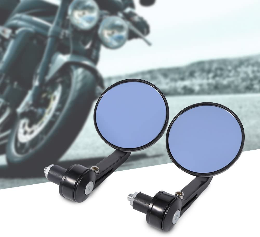 7//8 3inch Universal Round Motorbike Motorcycle Rear View Handle Bar End Rearview Side Mirrors Chrome Universal Motorcycle Rearview Side Mirror
