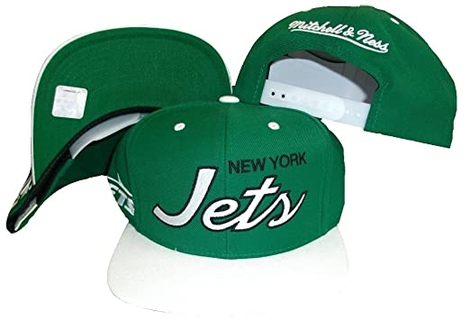 Image Unavailable. Image not available for. Color  New York Jets Script  Green White Two Tone Snapback Adjustable Plastic Snap Back Hat  ea4c83b2971c