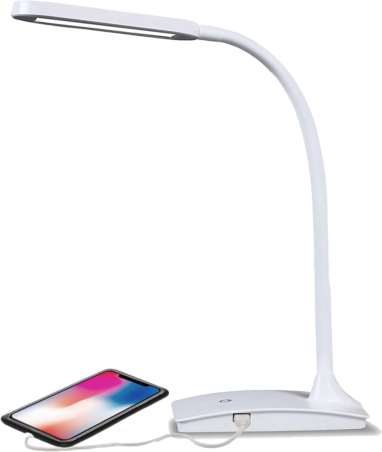 TW Lighting IVY-40WT The IVY LED Desk Lamp with USB Port, 3-Way ...