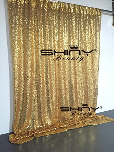 ShinyBeauty 6FTX6FT Gold Shimmer Sequin Fabric Photography Backdrop by ShiDianYi