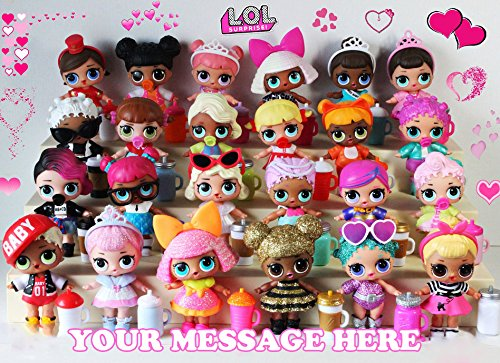 Price comparison product image LOL Surprise Dolls Personalized Edible Cake Topper Icing Sugar Sheet A4 1 / 4 Paper