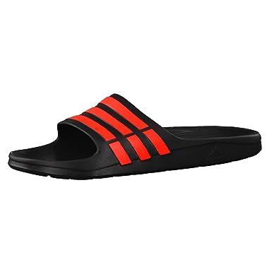 uk availability f0dea 88302 adidas Duramo Slide, Unisex Erwachsene Dusch-  Badeschuhe, Mehrfarbig -  schwarzrot