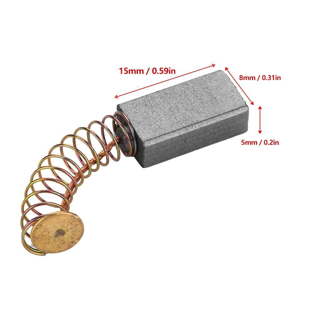 20pcs 15 x 8 x 5mm Motor reemplazable Juego de escobillas de carb/ón para martillo perforador