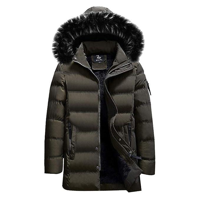Chaqueta de Invierno Hombre, Btruely Chaqueta con Bolsillo Abrigo de Color Puro otoño Invierno de