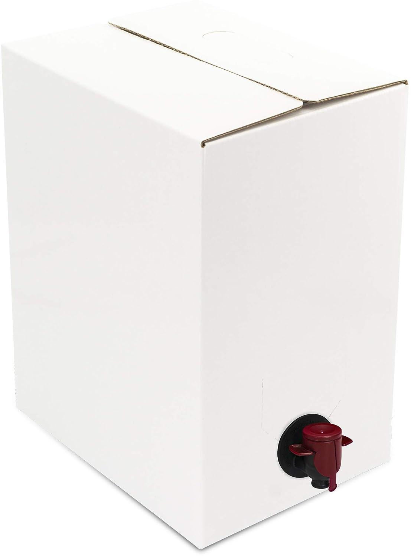 Bolsa vacía y caja para envasar líquidos: aceite, vino, zumo.(5 UNIDADES) (5 Litros, plástico): Amazon.es: Hogar