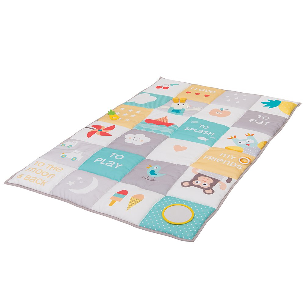 Taf Toys I Love Big Mat | Baby Activity Mat, Baby' s Development and Easier Parenting, Soft Colored & Thickly Padded for Comfort, Ideal for Twins, Best for Fun and Tummy Time Activities, Double Size TAF12175