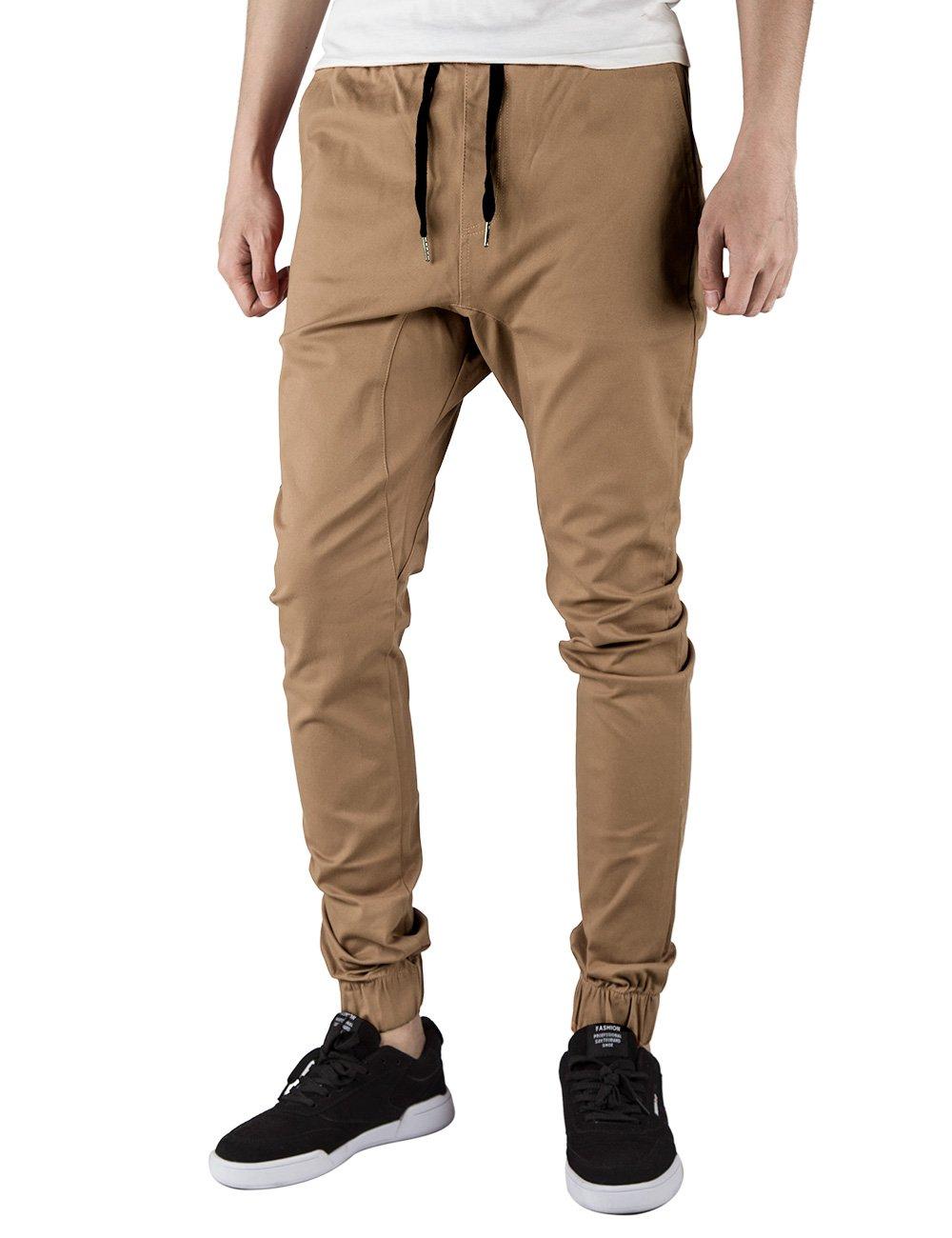 ITALY MORN Pantalón para Hombre Casual Chino Jogging Algodón 20 Colores