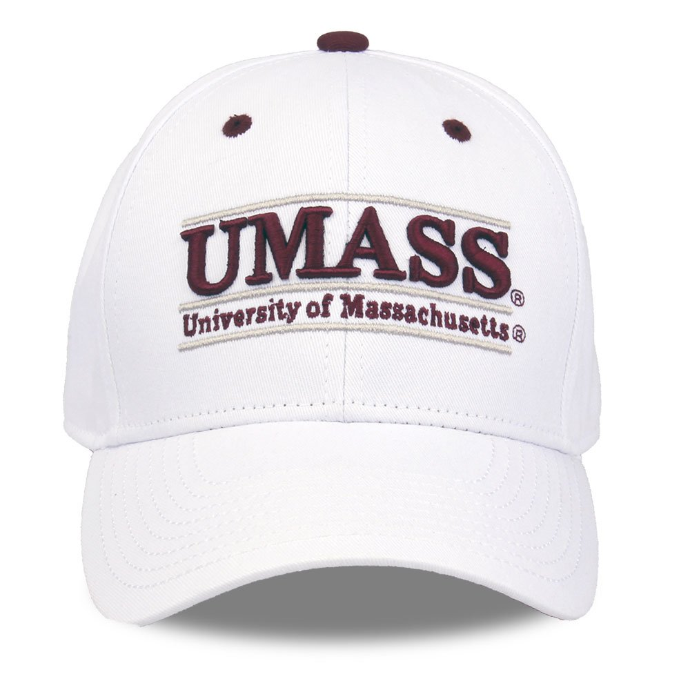 NCAA Massachusetts Minutemen Unisex NCAA The Game bar Design Hat Adjustable White