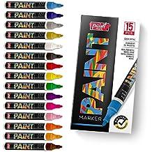 PaintMark Premium Paint Pens, 15 Vibrant Oil Paint Marker Pens For Wood, Glass, Metal And Ceramics.