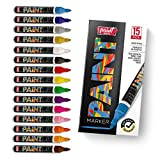 PaintMark Premium Paint Pens, 15 Vibrant Oil Paint Marker Pens For Wood, Glass, Metal And Ceramics.
