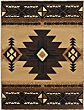 Rugs 4 Less Collection Southwest Native American Indian Area Rug Design R4L 318 Beige / Berber (3'10''X5'1'')