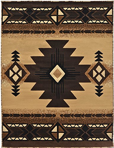Rugs 4 Less Collection Southwest Native American Indian Area Rug Design R4L 318 Beige / Berber (8'X10') by Rugs 4 Less