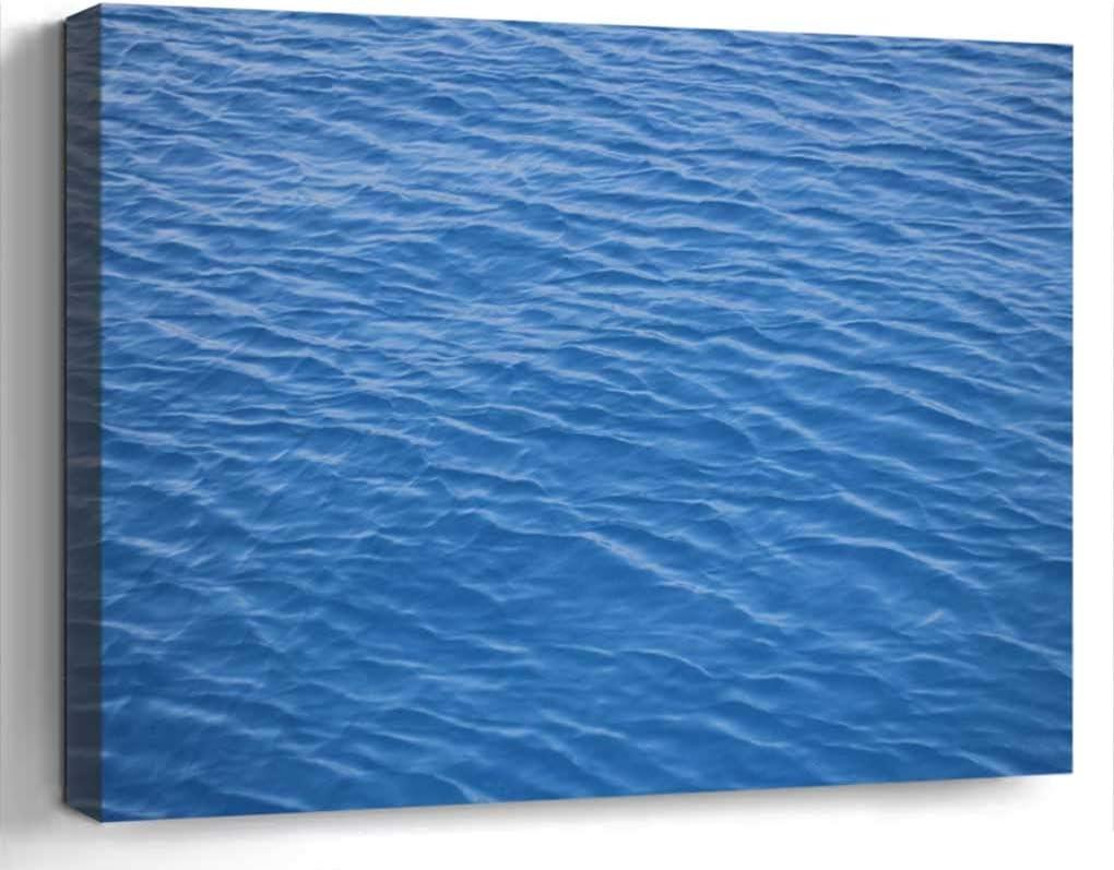 Wall Art Canvas Print Home Decor (20x14 inches)- Water Blue Ocean Sea Liquid Nature Wave Clea