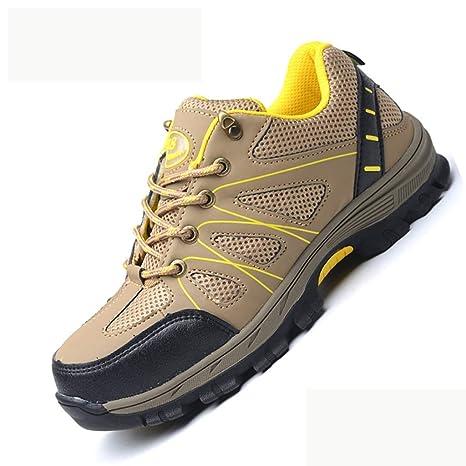 XBXZ Zapatos de Seguridad Negro Martillo Impermeable Entrenador de Seguridad súper Ligero Compuesto Compuesto y Zapatos de Trabajo de Entresuela Kevlar ...
