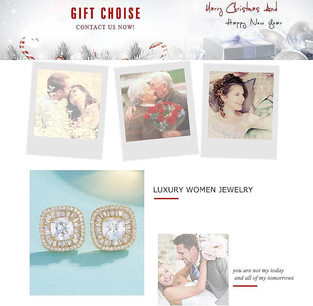 Incaton 24K White Gold Plated Cubic Zirconia Amethyst Earrings Necklace Earrings Set for Women Girls CZ Jewellery Set for Her