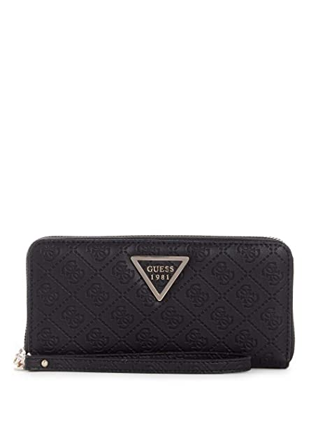 Guess Kamryn SLG Large Zip Around Black  Amazon.fr  Chaussures et Sacs 6a34b1e3fc0