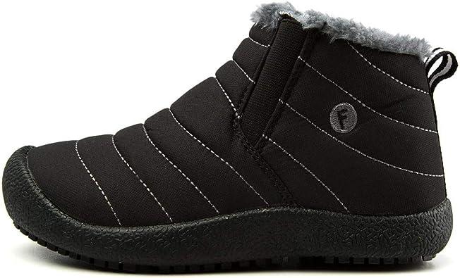Girls Children Kids Winter Warm Snow Fur Lined Shoes High Boots Waterproof Shoes