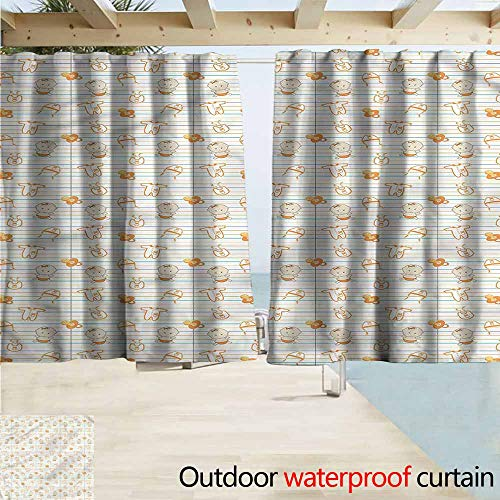 MaryMunger Custom Curtain Baby Cartoon Infant Design Darkening Thermal Insulated Blackout W55x39L Inches
