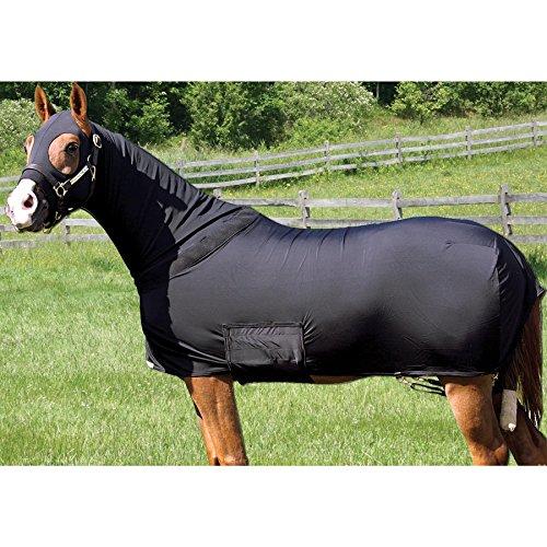 Q&A SUPPLY Lycra Full Body Slicker/Sheet / Blanket with Full Separating Zipper (Lycra Full Body Medium Horse)