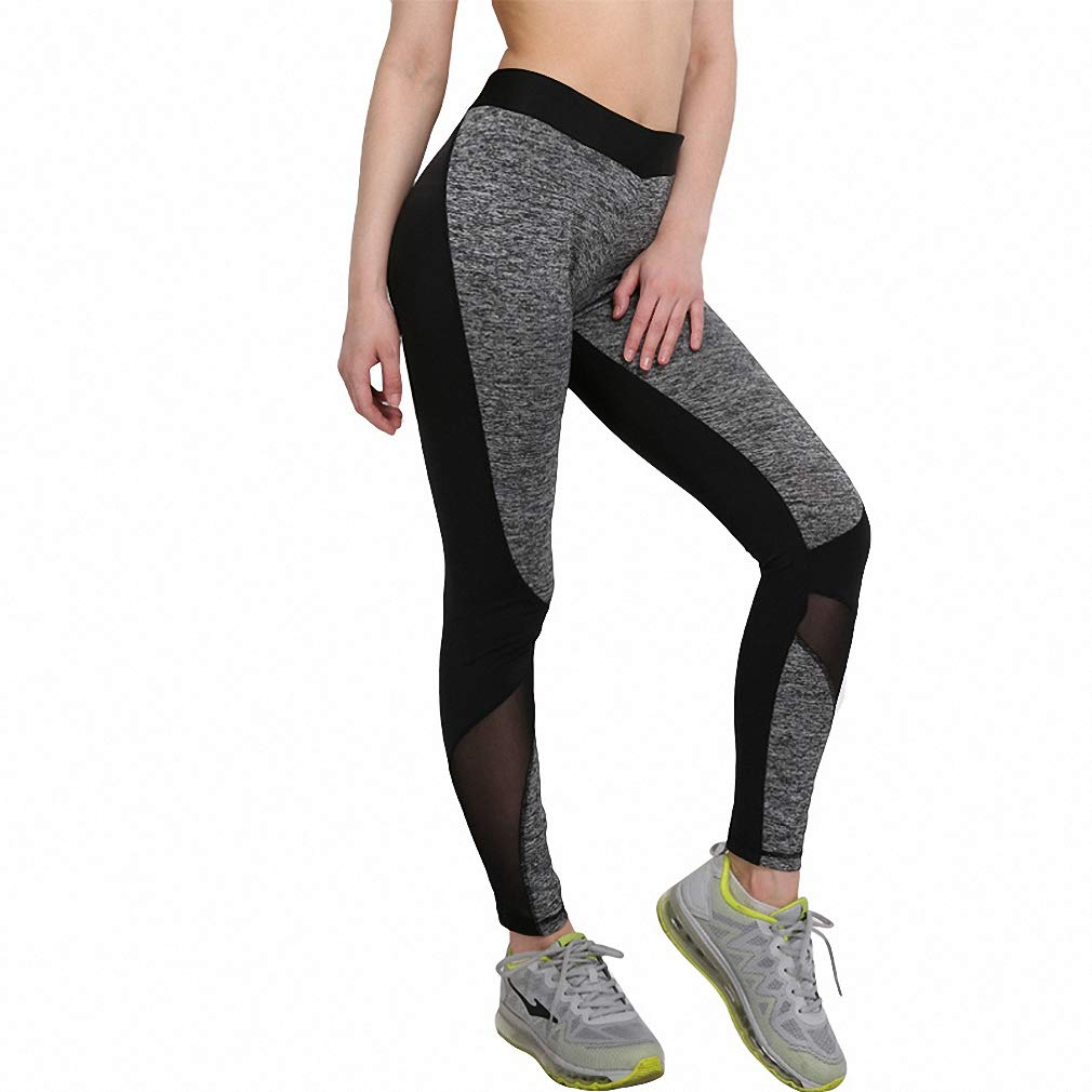 Alec&Arvin Sexy Mesh Leggings Women Workout Patchwork Leggins Polyester Slim Leggings Style 4 XL