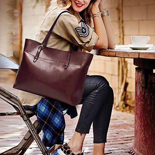 Laidaye Las 38 Señoras 30cm Bolso 13 Mujer Coffeecolor Bolso Bolsas Moda Simple Para winered Mano Versátil De Bandolera rvrPq6
