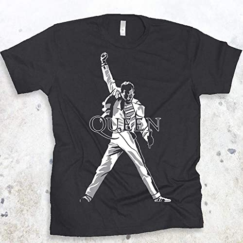2bb04f829d3 QUEEN Freddie Mercury Legendary Pose Rock Band Mens T-shirt ...