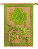Cheap Evergreen Happy St. Patrick's Day Burlap House Flag, 28 x 44 inches