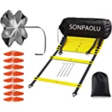 SONPAOLU Agility Ladder & Speed Cones Training Set, for Speed Agility Training & Quick Footwork Exercise -Includes Agility La