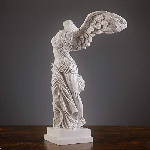TIPPOMG 9 Winged Nike de Samothrace Goddess Statue,Ancient Greek Goddess of Victory Statues,Noble and Sacred Made of Resin,Handmade