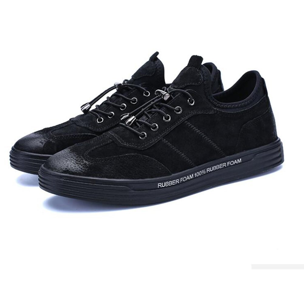 2 ECSD Men's Winter Korean Version Of The Trend Sports shoes Youth Plate shoes Black Khaki (color   1, Size   EU40 UK7 CN41)
