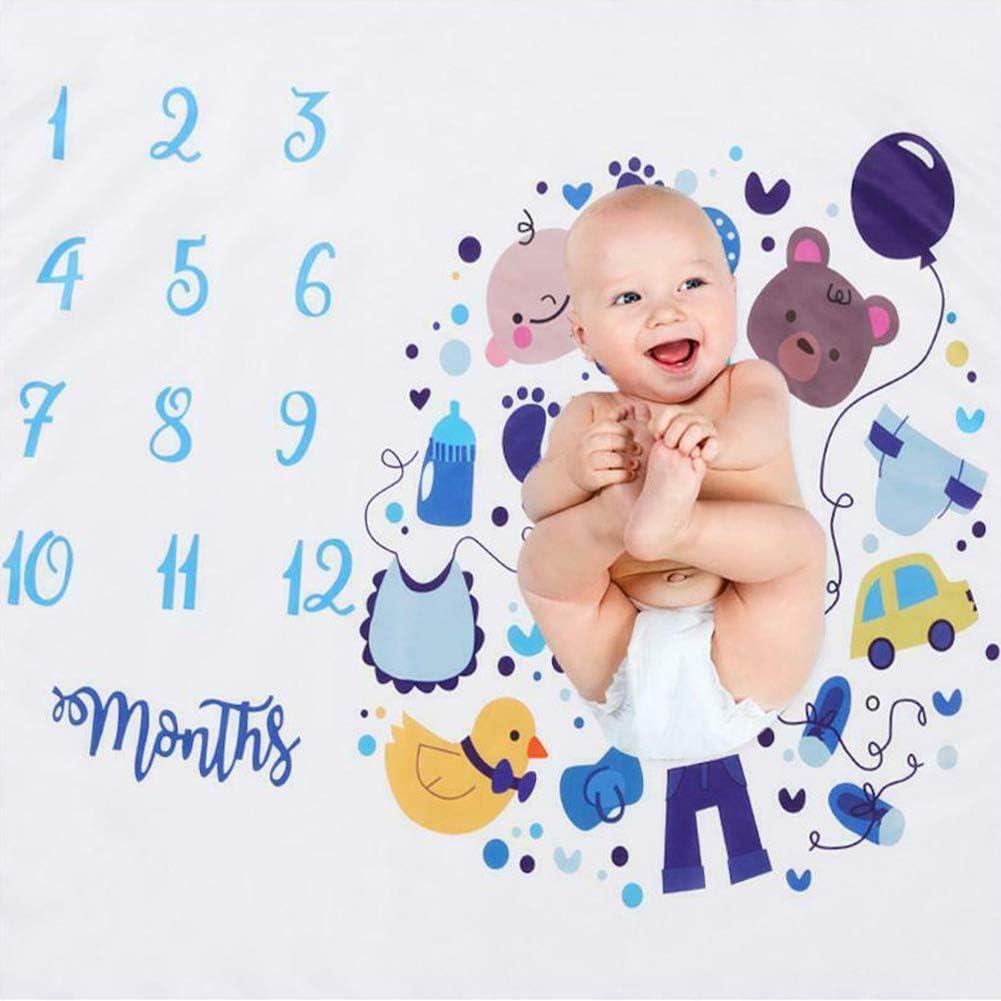 100 x 100 cm Cicony Manta para beb/é Mensuel Milestone