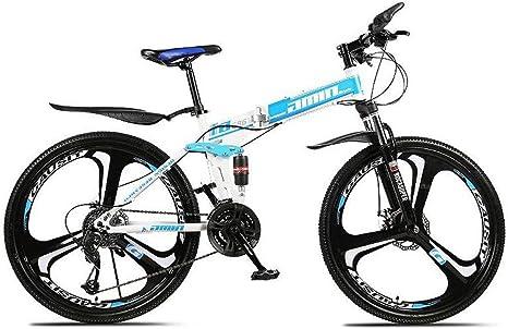 JLASD Bicicleta Montaña Bicicleta De Montaña, 26 Pulgadas Plegable Bicicletas 21/24/27 Plazos De Envío MTB Marco Ligero De Acero Al Carbono De Suspensión del Freno De Disco Completa: Amazon.es: Deportes y aire