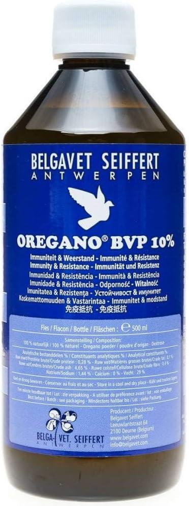 Belgavet Orégano BVP 10% 500 ml, (orégano líquido al 10%), para Palomas y pájaros