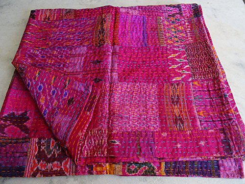 Patola Silk Patch Work Kantha Quilt , Kantha Blanket for sale  Delivered anywhere in Canada