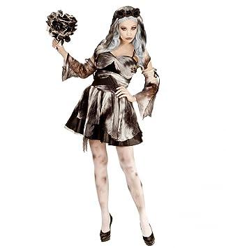 shoperama Calavera Novia Disfraz para Mujer Novia Fantasma Halloween  Espíritu Tote Novia Sexy Vestido  Amazon.es  Juguetes y juegos 9345bf43a1f1