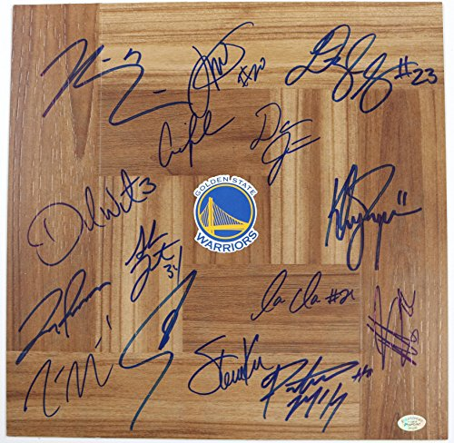 Golden State Warriors 2016-17 Team Signed Autographed Signed Basketball Floorboard Curry Thompson Green (Signed Team Floor)