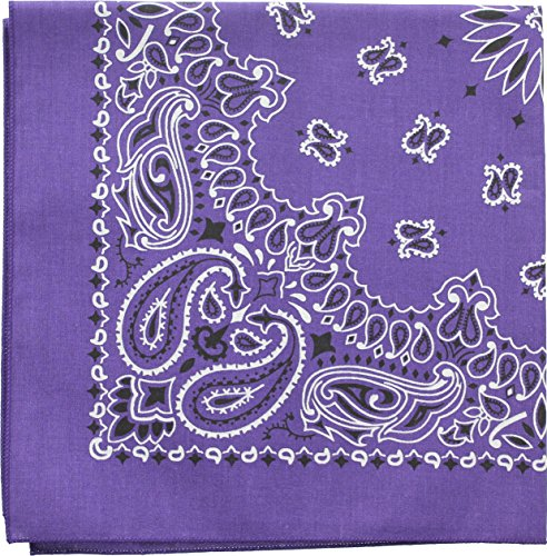Military Army Trainmen Paisley Bandanas (Purple - 27