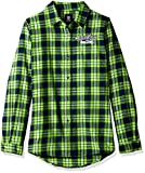 Seattle Seahawks 2016 Wordmark Basic Flannel Shirt - Womens Medium