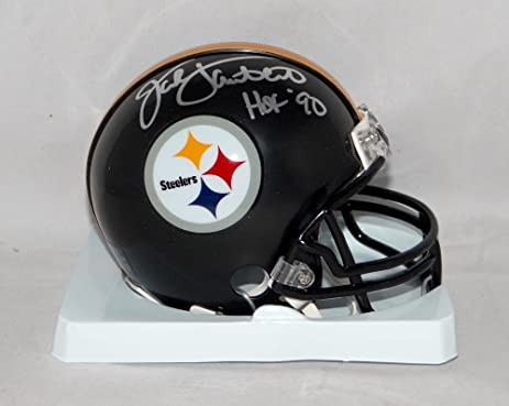 0285a4792 Image Unavailable. Image not available for. Color  Signed Jack Lambert Mini  Helmet -  Silver W HOF W Auth - JSA Certified -