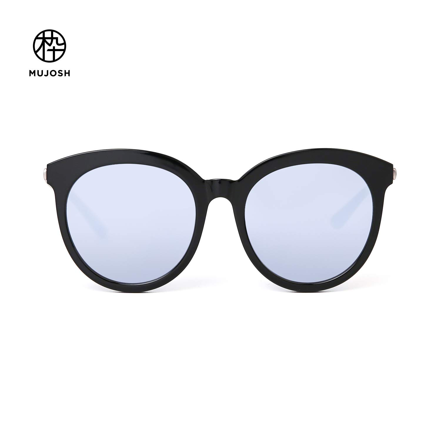8d43e0281b Amazon.com  MUJOSH Mirrored Round UV Protection Retro Sunglasses for Women