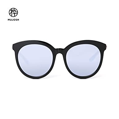1c2023993d Amazon.com  MUJOSH Mirrored Round UV Protection Retro Sunglasses for ...