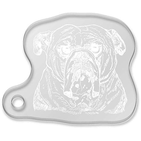 Azeeda Cara de Bulldog Llavero (AK00022003): Amazon.es ...