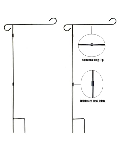 Etonnant Garden Flag Pole Stand   2 Pack   36u0026quot; Tall By 16u0026quot; Wide