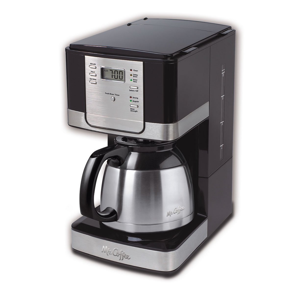 Mr. Coffee Advanced Brew 8-Cup Programmable Coffee Maker with Thermal Carafe, Black/Chrome by Mr. Coffee