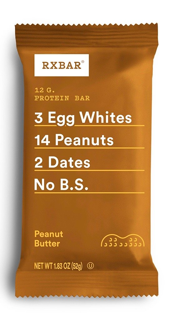 RXBAR Whole Food Protein Bar, Peanut Butter, 1.83oz Bars, 12 Count