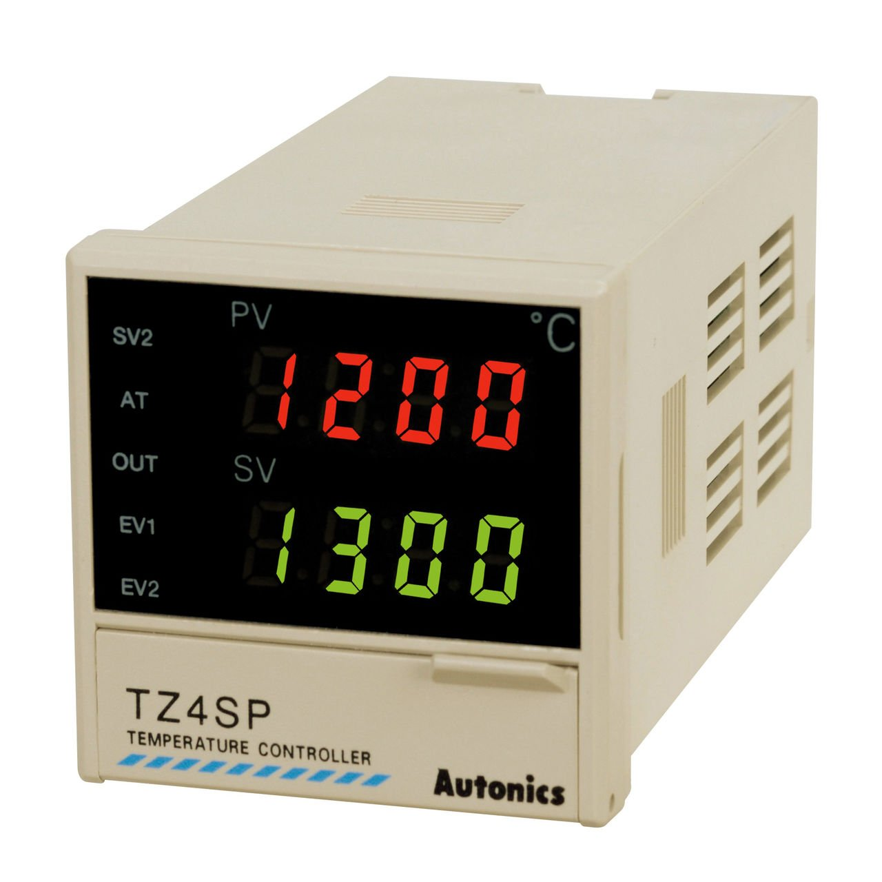 Autonics TZ4ST-24R PID Temp Control, 1/16 DIN, Digital, Relay Output, 2 Alarm Outputs, 100-240 VAC by Autonics USA, Inc